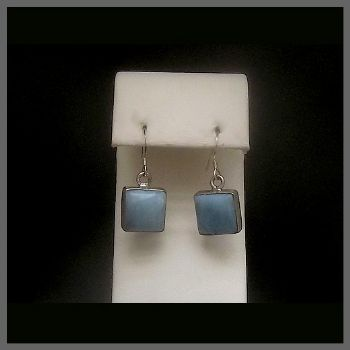 Square Larimar Earrings